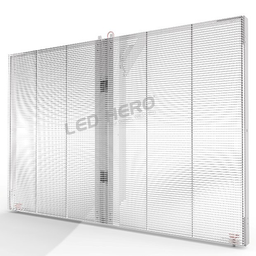 LED-HERO's Transparent LED Display Develop Rapidly in LED Glass Wall Area
