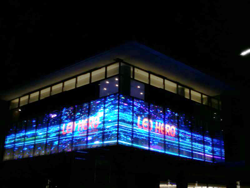 LED transparent screen settled in Dubai 4S Rolls-Royce shop
