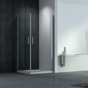 good quality F524 stainless steel square frameless corner entry shower enclosure supplier