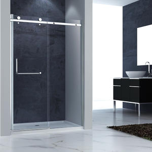 factory direct sale SRF121 Tempered Glass Frameless Sliding Shower Door manufacturer