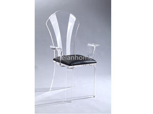 fashion crystal lucite queen chair suppliers from china factory