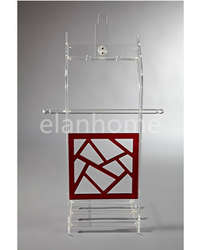 modern acrylic clothes rack-crystal