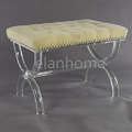 crystal U shaped bench with solid acrylic round bar legs C108