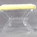 Z shaped bench wiht crystal acrylic legs c109