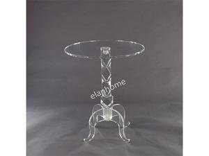 clear without bubbles acrylic side table crystal coffee table from DongGuan of China Factory