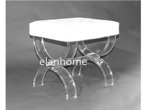 U  shape crystal lucite bench supplier in china