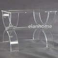 U  shape crystal lucite bench C103