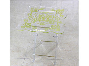 lucite glass furniture fold side table from chin factory