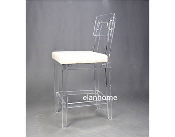 perspex clear bar chair
