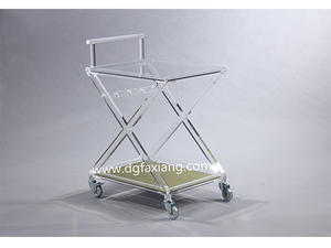 trolley acrylic trolley clear design furniture