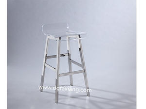 stainless bar stool with acrylic set  stainless bar stool acrylic bar stool