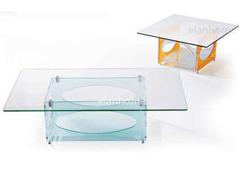 double acrylic coffee table