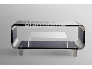 simple acrylic TV stand