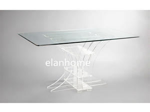 acrylic table with tempered glass top