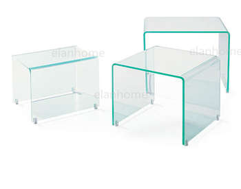 modern acrylic nesting table