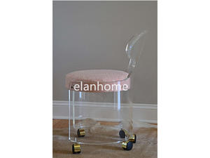 acrylic office chair with rolling