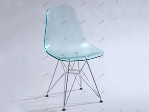 Eames acrylic chair with chromed legs from china factory