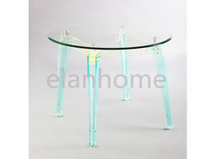 round dinning table with color acrylic legs
