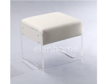 simple KD acrylic vanity stool