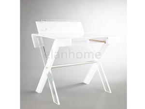 white acrylic desk