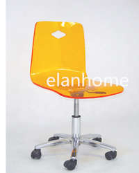acrylic adjustable height swivel office desk chair