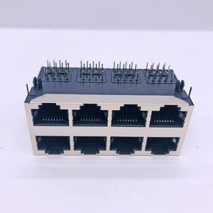 RJ45 59B 2x4 Long Shell With Latch Connector