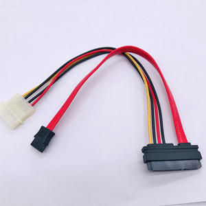7+15 Pin SATA FMale To Molex IDE 4 Pin Female SATA 7P FMALE Cable