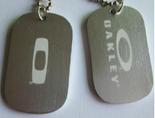 custom metal logo tags