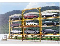 Roadway stacking stereogarage
