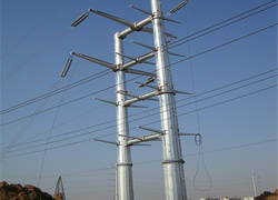 Transmission line steel pole