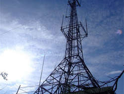 Radio and television tower