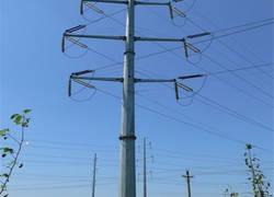Transmission line steel pole