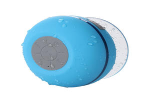 High Quality Portable Waterproof Bluetooth Speaker With Suction Cup And LED Light