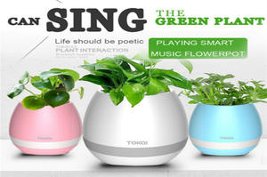 Unique Design Home Bluetooth Speaker Smart Music Flower Pot LED Colourful Light