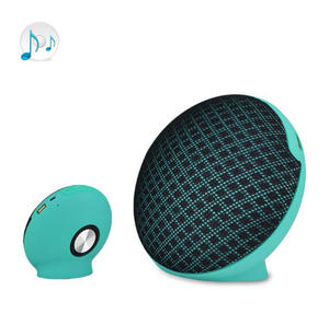 Newest Mini Fabric Bluetooth Speaker TWS Wireless Tandem Speaker With Micphone USB AUX TF Card Subwoofer MP3 Music Player Cloth Net