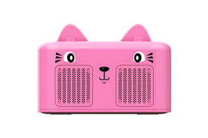 Customizable Cartoon Cat Character With Cell Mobile Phone Holder Mini Bluetooth Speakers EPS124