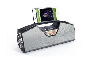 Wireless FM Radio Portable High Quality torch speaker with Phone holder