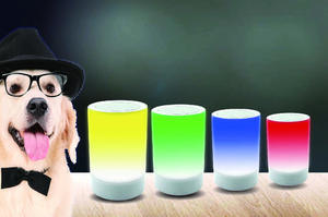 Portable Mini Wireless Bluetooth Speaker Cylinder Bluetooth Speaker With LED Light and SD Card