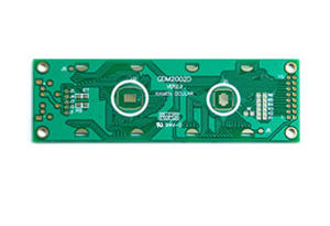 Smooth bonding pads LCD module PCB