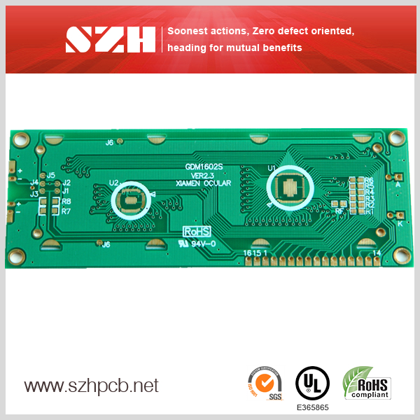 Immersion Gold Smooth Bonding Pads LCD Modules PCB