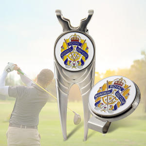 Customized Metal Golf Accessories/ Money Clips, Divot Tools And Ball Markers