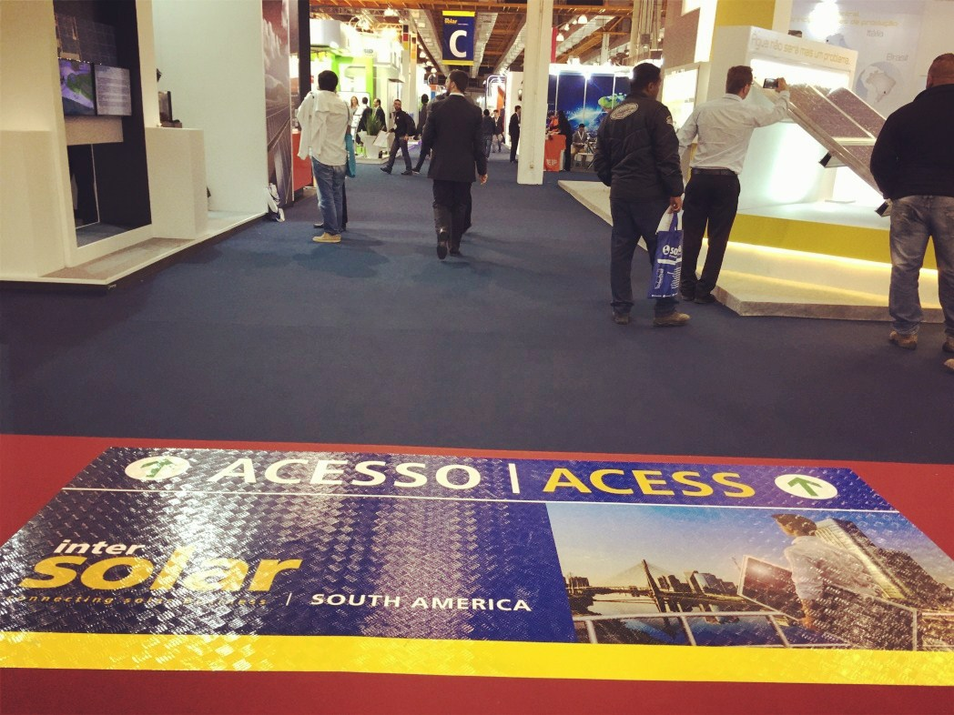 Brazil visitors visited Sacred Sun booth at intersolar south America 2016
