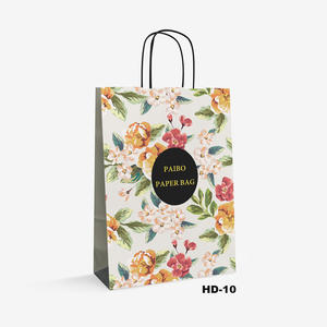 flower pattern kraft bag HD-10