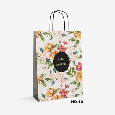 flower pattern kraft bag HD-10