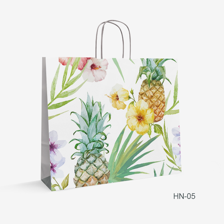 flower logo paper bag