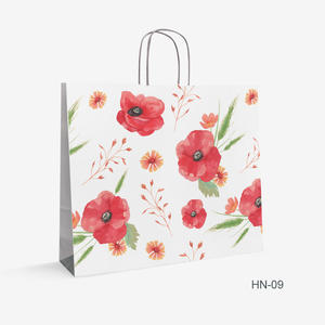 Printed Kraft bag flowers HN-9