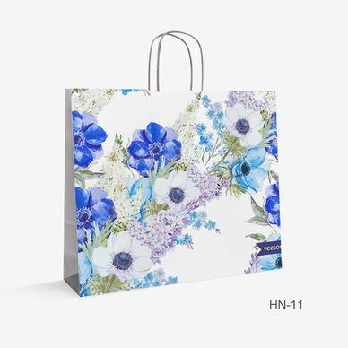Printed Kraft bag flowers HN-11