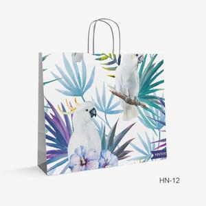 Printed Kraft bag flowers HN-12
