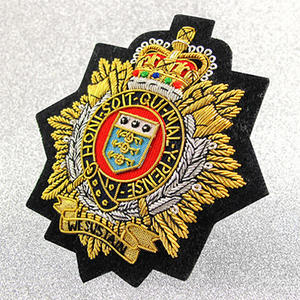 Fabric Custom Bullion Crests or Bullion Patches