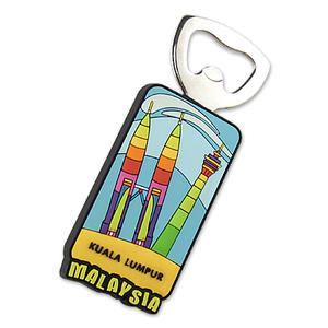 Custom Personalized PVC Cool Bottle Openers Keyring
